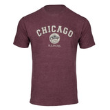 Chicago Medallion Heather Maroon T-Shirt