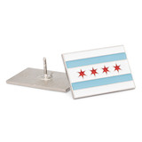 Chicago City Flag Pin