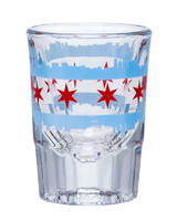 Chicago Double Skyline Shot Glass