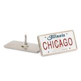 Chicago IL License Plate Pin