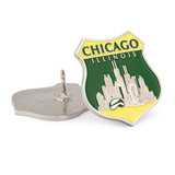 Chicago Skyline Shield Pin