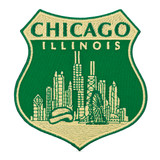 Chicago Skyline Shield Patch