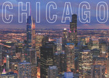 Chicago Aerial HK View Postcard 5x7