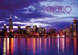 Chicago Nite Reflection Postcard 5x7