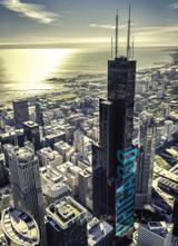 Chicago Willis Aerial Postcard 5x7