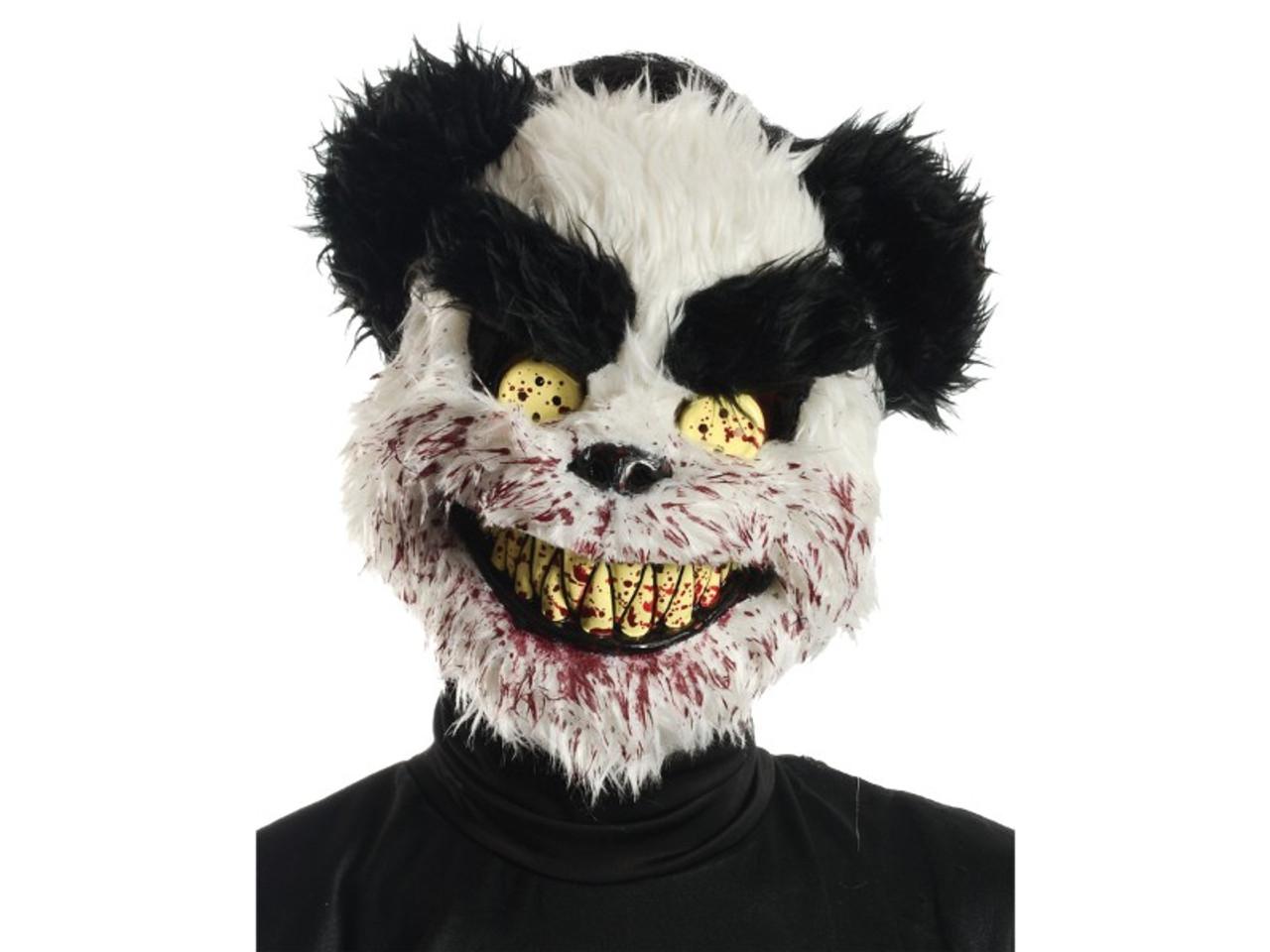 Charles The Scary Teddy Bear Black White Mask Houseofhauntzcom