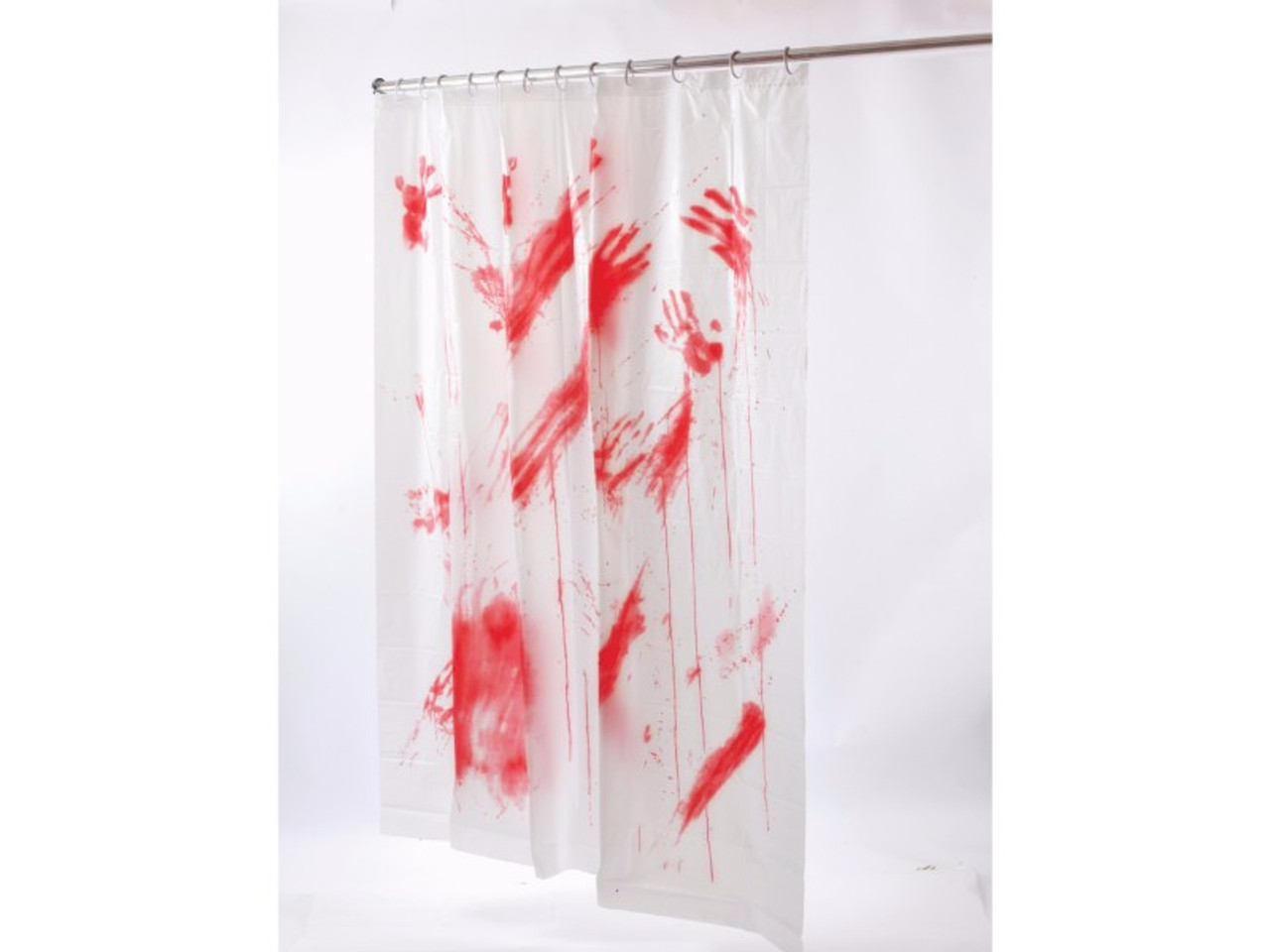 Bloody Shower Curtain Bathroom Prop