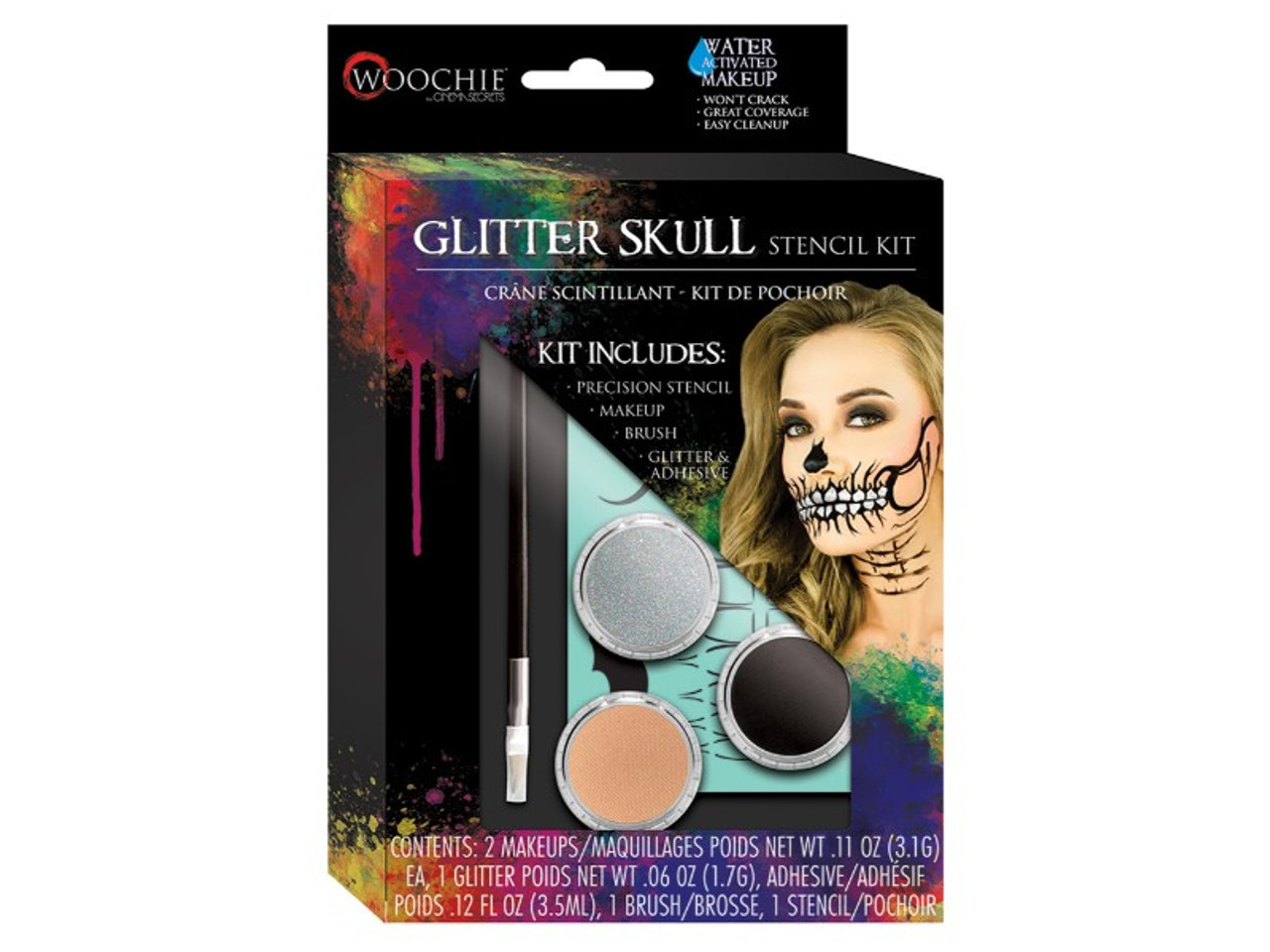 Glitter Skull Stencil Makeup Kit Are you a lover of The Day Of The Dead and