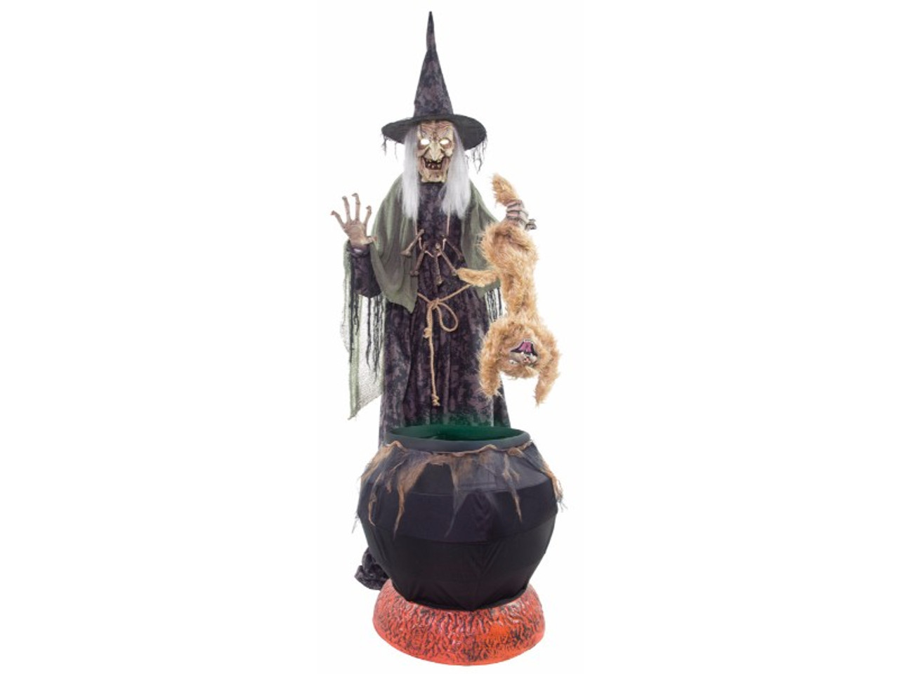 Animated Witch Prop With Cat And Cauldron For 20 Off Now