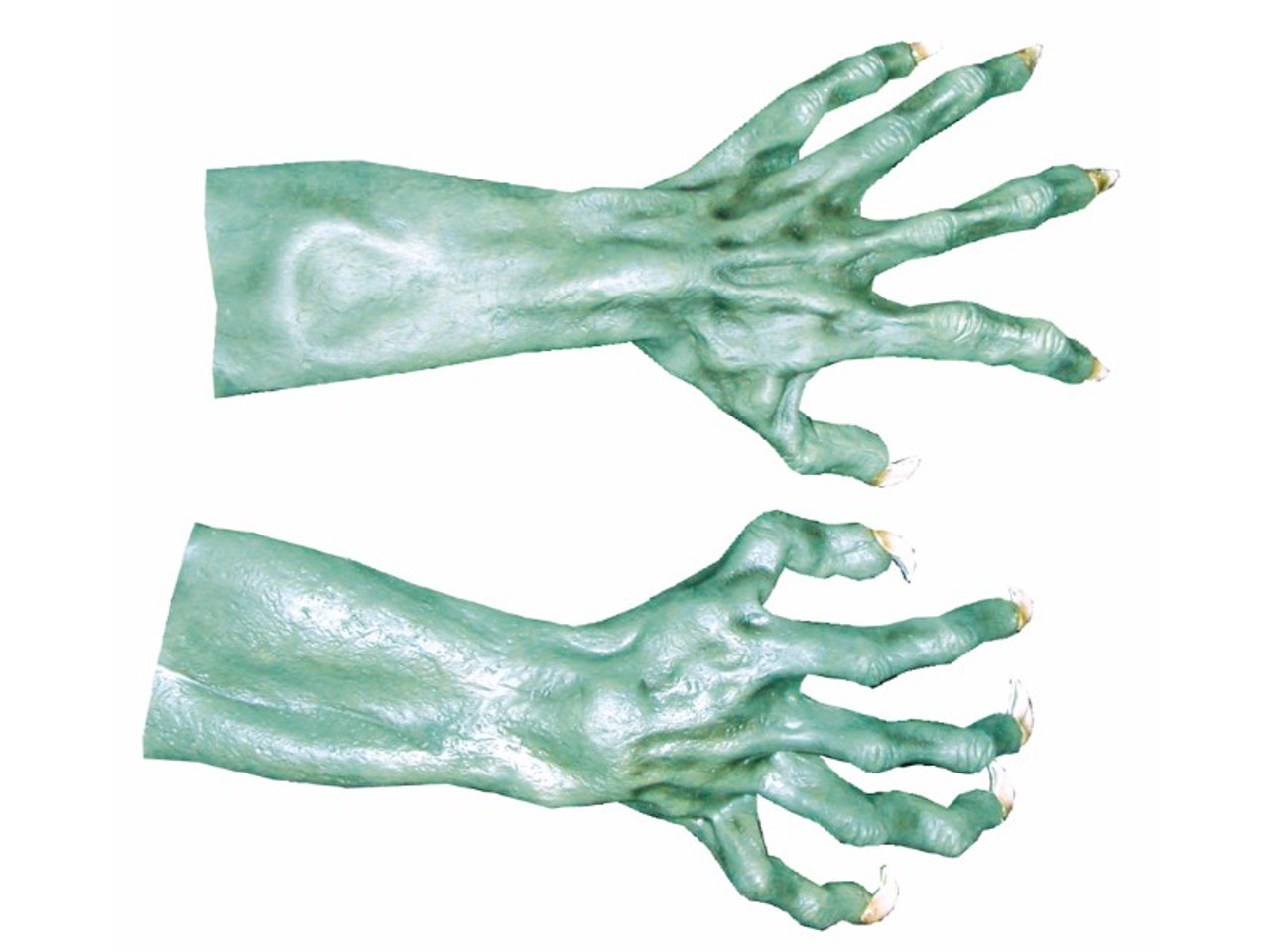 HALLOWEEN ADULT ZOMBIE ROTTED HANDS LARGE GLOVES MASK PROP
