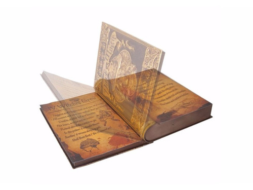 Dark Magic Witch's Spell Book Animated Prop