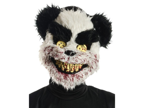 Charles The Scary Teddy Bear Black White Mask