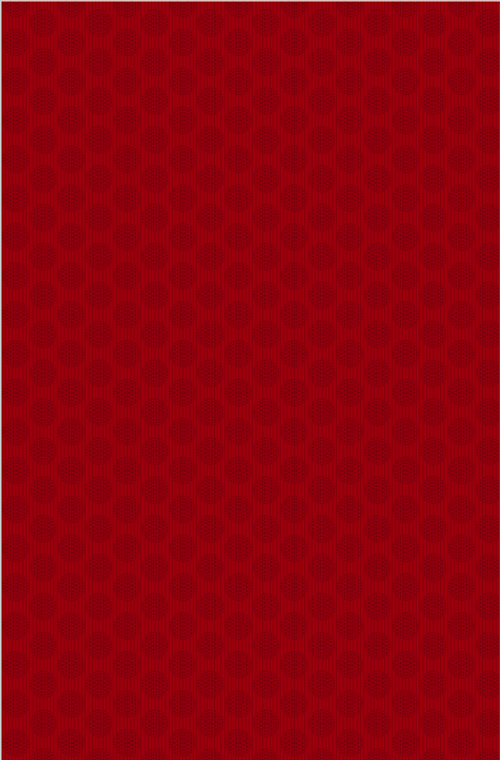 Wilmington Prints- Essential Red Carpet- Circles and Stripes Red on Red