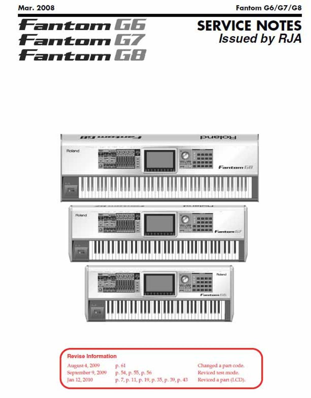 Roland Fantom G Series Service Manual