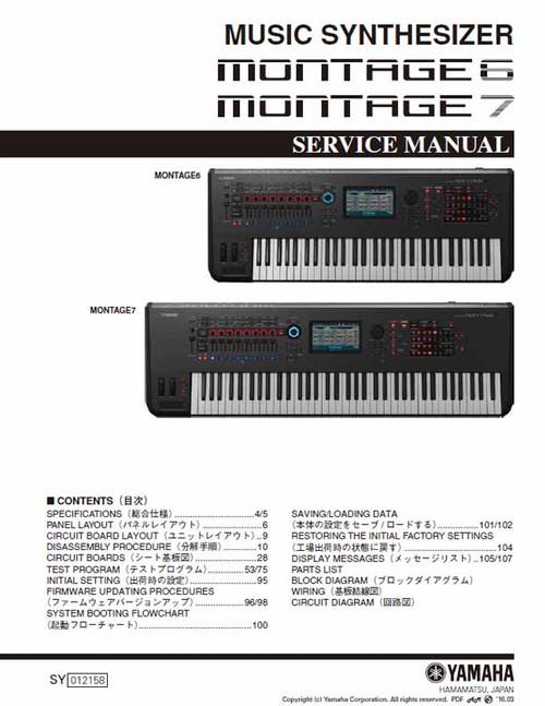 Yamaha Montage 6/7 Service Manual