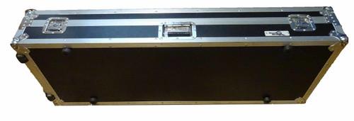 Road Runner Keyboard Flight Case with Casters Black 76 Key