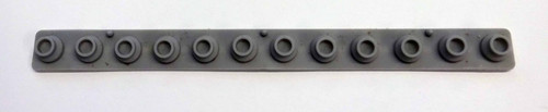 Casio CT-102, CT-640 12 Note Rubber Key Contact Strip