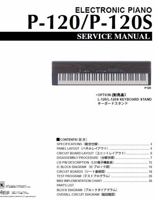 Yamaha P-120 Service Manual