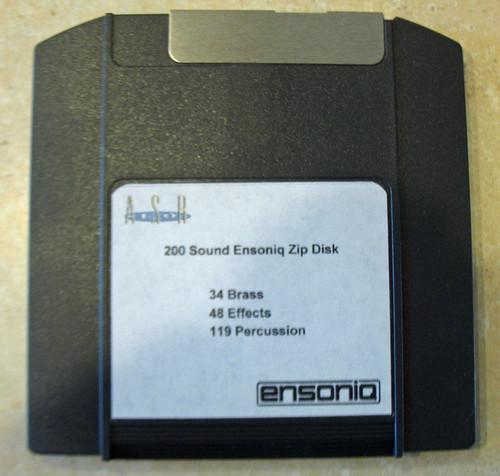 Ensoniq ASR-10 Zip Disk With 200 Sounds