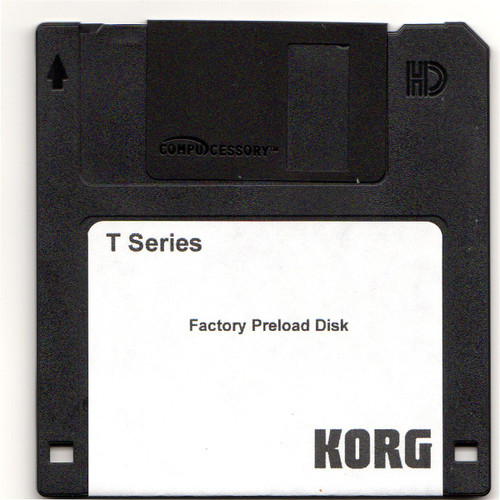 Korg T-Series Factory Preload Disk