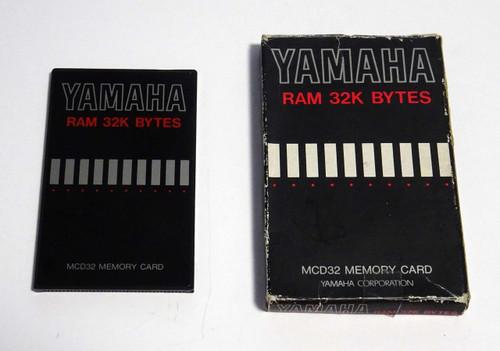 Yamaha MCD32 RAM 32K BYTES Memory Card for SY and TG series