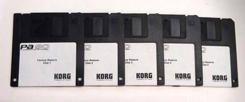Korg PA 80 Factory Restore 5 Disk Set