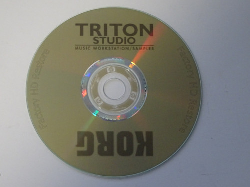 Korg Triton Studio Factory Preload Data Disk with Songs