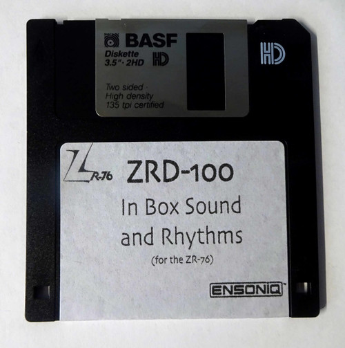 Ensoniq ZR-76 ZRD-100 In Box Sound & Rhythm Disk