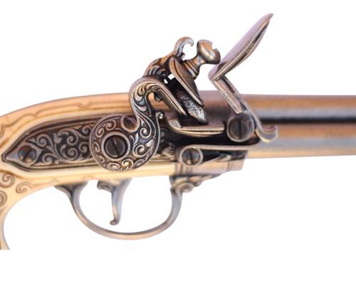 17th Century Triple Barrel Flintlock Pistol Replica ...   Triple Barrel Flintlock Pistol