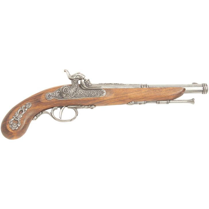 Denix 19th Century French Percussion Dueling Pistol Cap Gun in Pewter Main Image