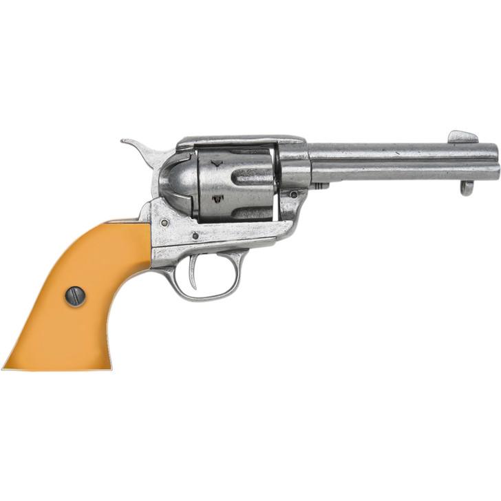 Denix Fastdraw 1873 Fast Draw Cap Gun in Gray With Custom Faux Auburn Grips Main Image