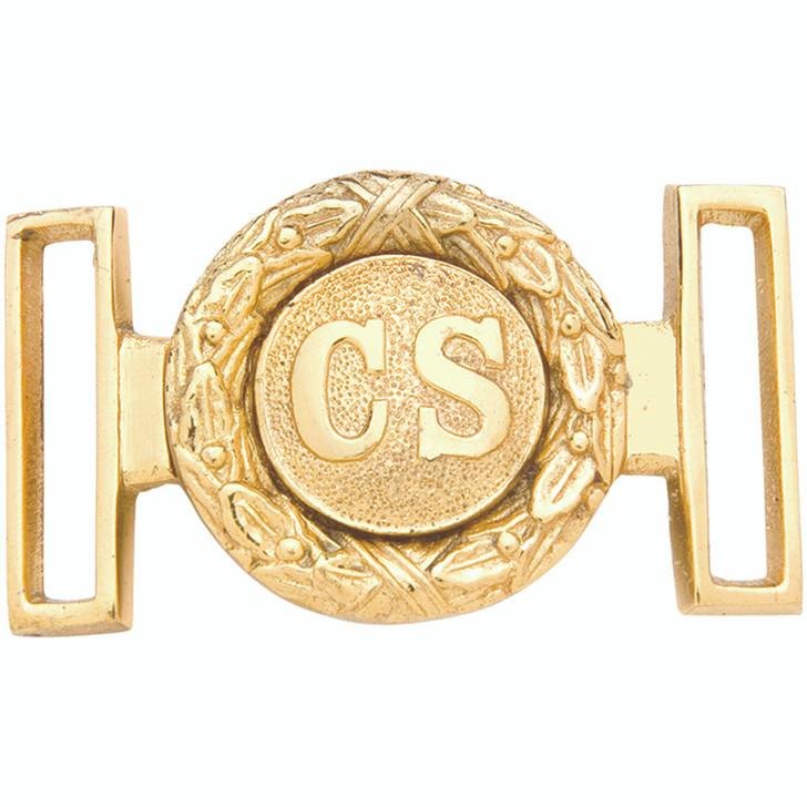 Confederate Officer Brass Belt Buckle Main Image
