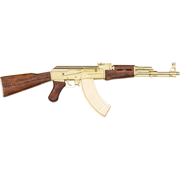 Replica Russian Assault Rifle Non-Firing Gun Gold Finish Main Image