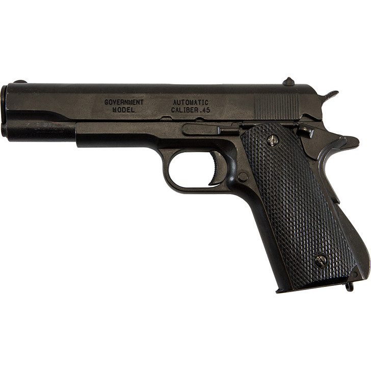 Replica M1911A1 Black Finish  Black Composite Grips Government Automatic Pistol Non-Firing Gun Main Image
