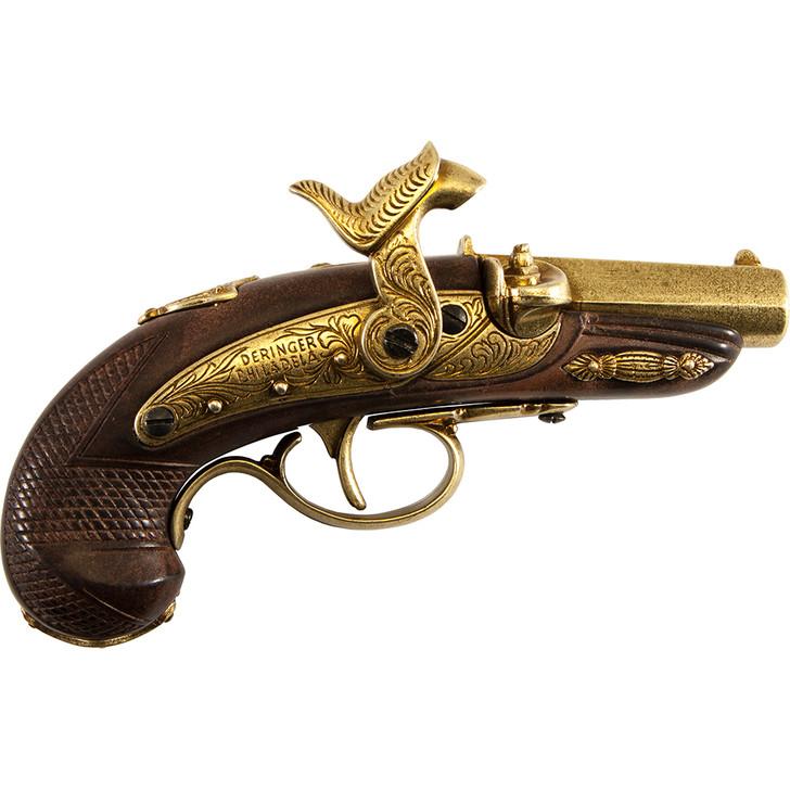 Civil War Philadelphia Derringer Cap Firing Replica Brass Main Image