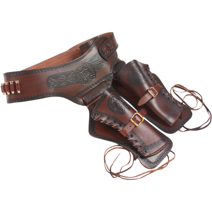 Denix Western Leather Double Sided Holster With Replica Bullets Main Image