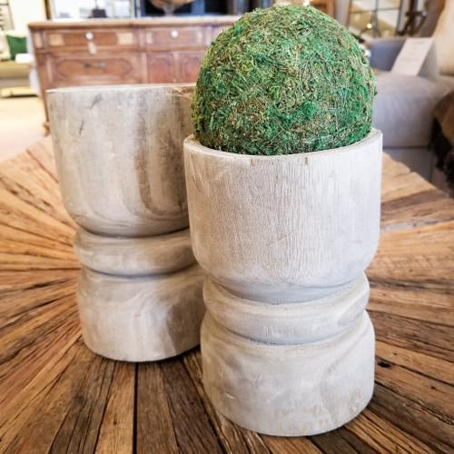 paulownia wood pillar holder