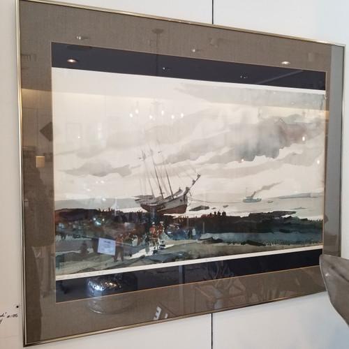 Andrew Wyeth 'Schooner Aground'