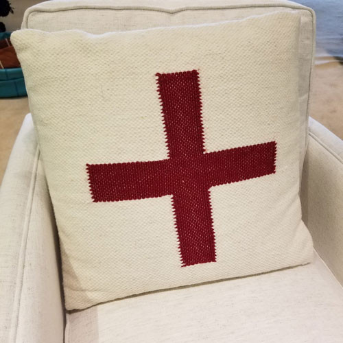 Wool Red Cross pillow