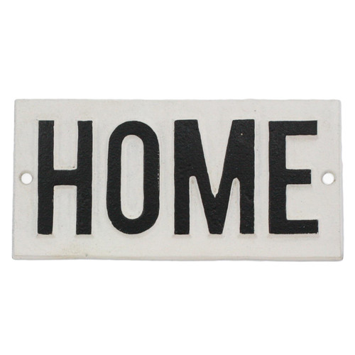 Cast Iron HOME Sign