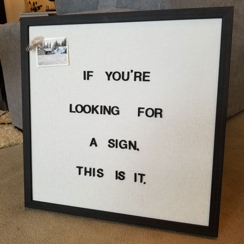 Letterlove Magnet Board