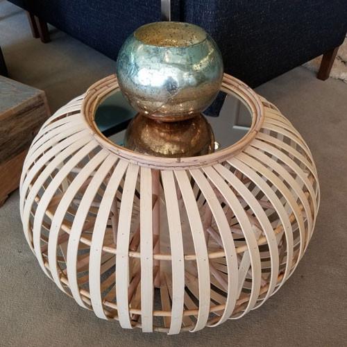Fun Bamboo Circular Mirrored Table