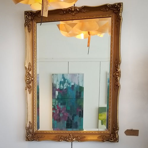 Hollywood Regency Beveled Mirror