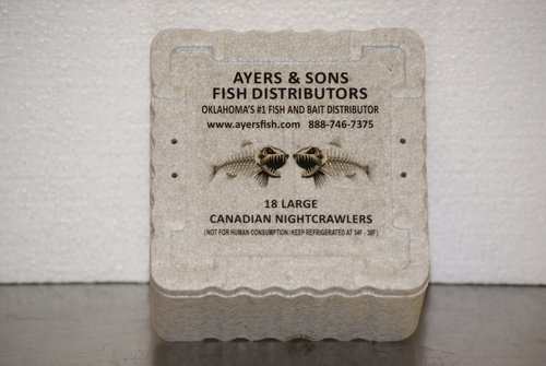 18 Count Canadian Nightcrawlers (16 or 32 Containers)