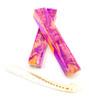 LSU Inspired Purple & Gold  Alligator Jawbone Blank