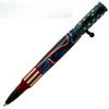 PKCP80CBK Bolt Action Ceramic Red, White and Blue Flag and Matte Black Pen Kit