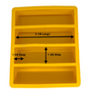 4 Cavity Oversized Yellow Silicone Pen Blank Casting Mold