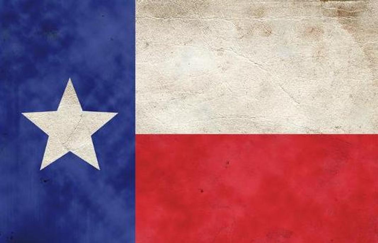 Distressed Texas Flag Pen Blank
