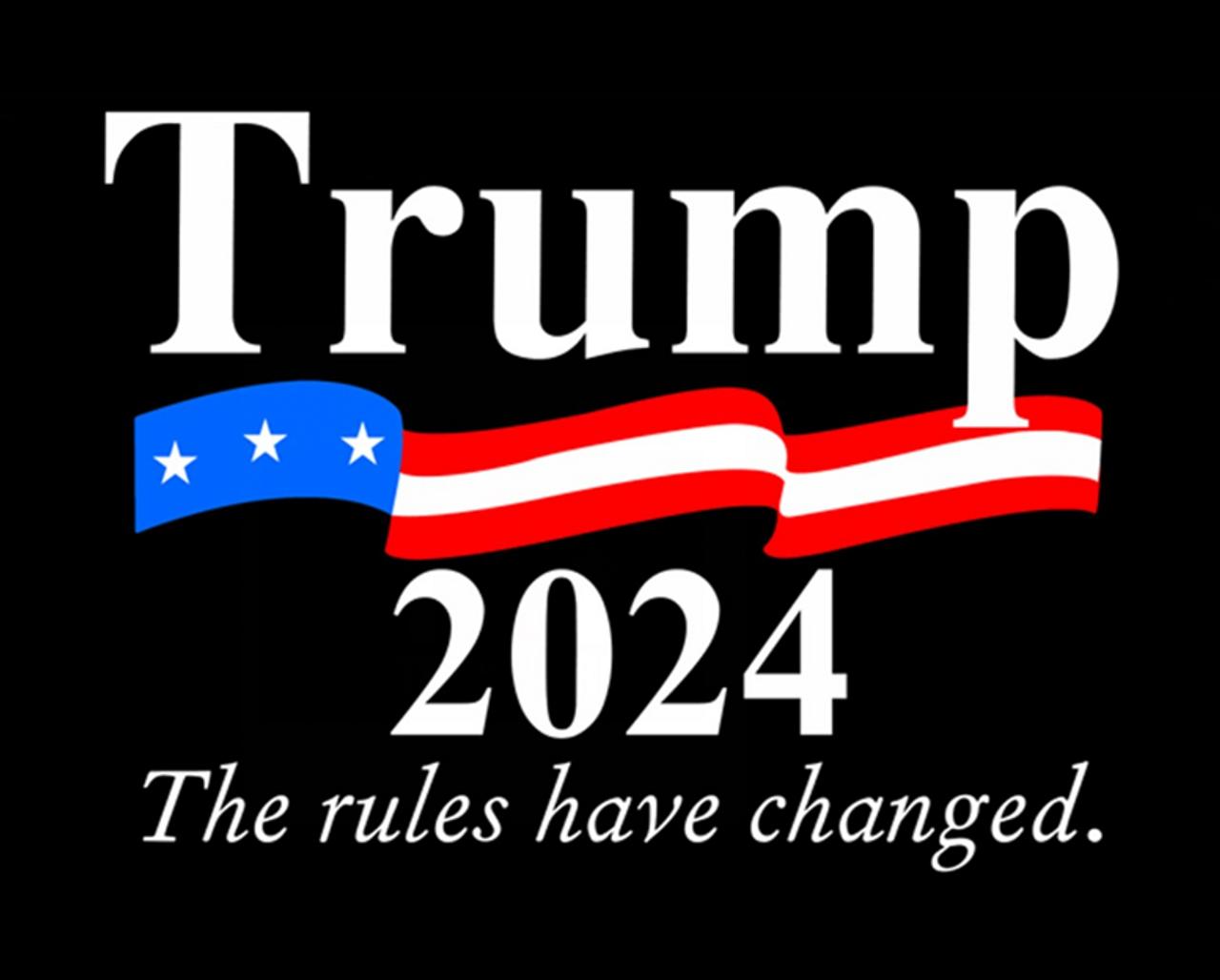 Presidential Donald Trump 2024 Black Acrylic Pen Blank