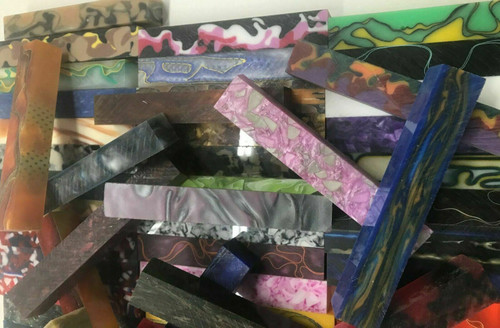 Larger 20 Acrylic Pen Blanks Assorted 3/4 x 3/4 x 5